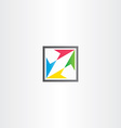 square icon with colorful arrows vector image vector image