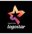 star logo colored ribbons vector image