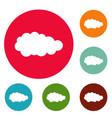 summer cloud icons circle set vector image vector image