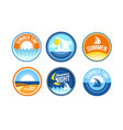 Summer time emblems for travel agency