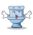 surprised toilet character cartoon style vector image vector image