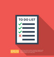 to do list or planning icon in flat style concept vector image vector image