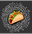 tortilla burritos wrap cartoon vector image vector image
