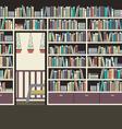 Vintage Interior Reading Room vector image vector image