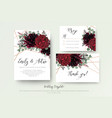 wedding invite invitation rsvp thank you card vector image vector image