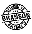 welcome to branson black stamp vector image vector image