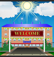 welcome to school vector image vector image