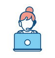 woman call center vector image