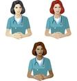 Woman in medic uniform support expert vector image vector image