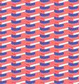 Seamless pattern usa flag vector image