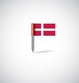 denmark flag pin vector image