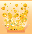 gift box for the holiday smiley vector image