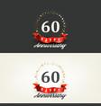 60 years happy anniversary banners vector image