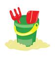 a set for a sandbox for children cartoon bucket vector image