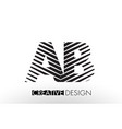 ab a b lines letter design with creative elegant