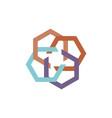 abstract hexagon logo vector image