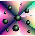 abstraction balls triangles geometrical figure vector image
