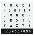 Alphabet and numbers with no sharp corners vector image