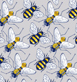 bee fly background pattern vector image vector image
