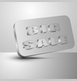 big sale the 3d vector image vector image