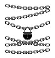 black padlock with chains vector image