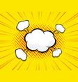 blank speech bubble comic book pop art vector image