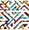 bright geometric seamless pattern vector image vector image