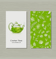 business cards design herbal tea