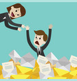 businessman or manager has a lot of emails vector image vector image
