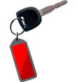 Car key with remote control isolated over white