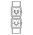 cartoon kawaii wrist watch character vector image