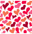 cartoon sketched heart seamless pattern vector image vector image