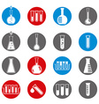 Chemical and medical flask icons set vector image