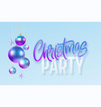christmas party calligraphy lettering greeting vector image