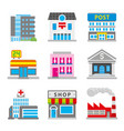 city building town habitat element vector image