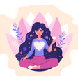 concept mindfulness love and harmony vector image vector image