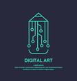conceptual logo and label digital art vector image