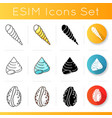 different sea shells icons set vector image vector image