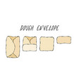 dough envelop pastry kitchen collection eps10 vector image vector image
