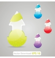 download folder shining icon with color variation vector image