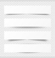 empty white banners with shadow paper blurb vector image vector image