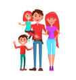 family mother father and two kids isolated vector image