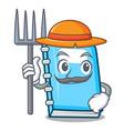 farmer education character cartoon style vector image vector image