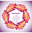 floral watercolor wreath colorful feather vector image