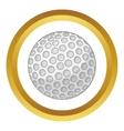 Golf ball icon vector image vector image