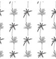 hand-drawn seamless pattern with palm trees vector image