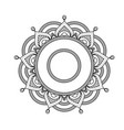indian mandala - flower style pattern vector image
