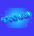 internet studio isometric banner template vector image