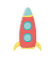 kids toys rocket cartoon isolated icon design vector image vector image
