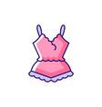 lace pyjamas pink rgb color icon vector image vector image